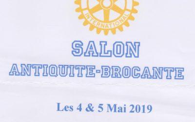 4-5 mai 2019, salon d'antiquaires à St Flour, organisé par le Rotary Club de St Flour