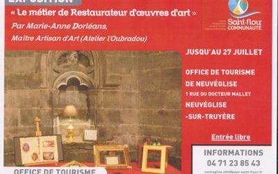16 juin – 27 juillet 2019  :  Exposition sur le métier de restaurateur d'oeuvres d'art